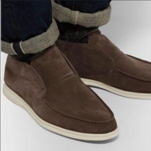 Lorno Piana Open Walk Suede Boots
